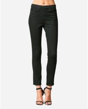 Flying Monkey High Rise Cut Seam Waistband Skinny Ankle Jeans
