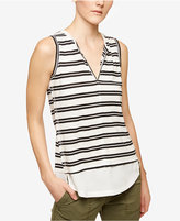 Sanctuary City Striped Layered-Look Top