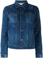 Hudson denim jacket - women - Cotton/Spandex/Elastane - M