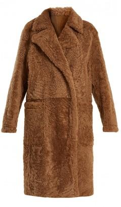 Yves Salomon Camel Shearling Coat for Women