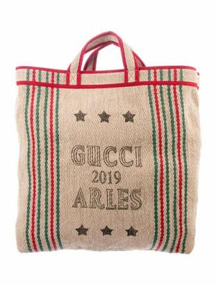 Gucci 2019 Arles Jute Tote