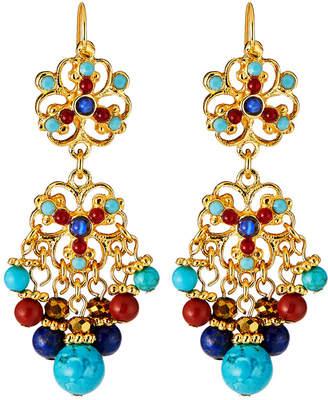 Jose & Maria Barrera Beaded Filigree Earrings