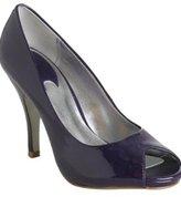 purple patent leather 'Agatha' peep toe pumps