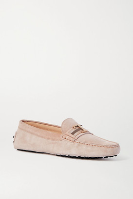 Tod's Gommino Suede Loafers - Blush