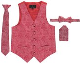 "Vittorino Little Boys' ""Shadow Paisley""-Piece Vest & Accessories Set"