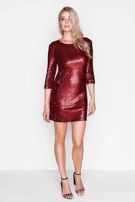 Girls On Film Red Sequin Bodycon