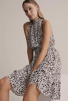 Witchery High Neck Print Dress