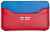 Jeff Wan Leather Card Case Colorblock Multi Flag Port Louis