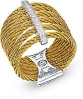Alor Split Linear Diamond Pavé Ring, Size 7