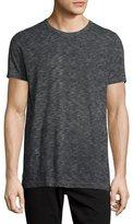 Vince Vintage Melange Slub Crewneck T-Shirt, Black