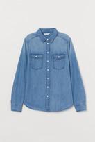 H&M Fitted denim shirt