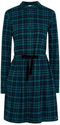 Jack Wills Burley Metallic Check Shirt Dress