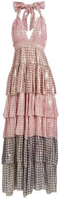 LoveShackFancy Clarissa Silk Maxi Dress