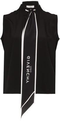 Givenchy Logo Print Scarf Blouse