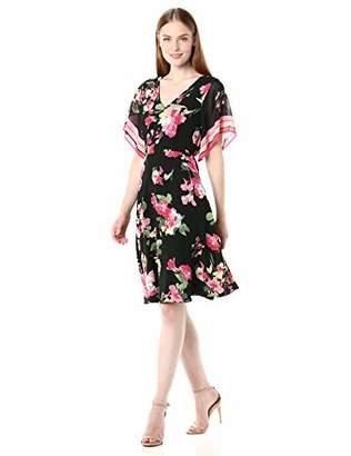 Donna Morgan Women's Chiffon Floral Dress