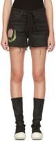 Off-White Black Denim Tulip Shorts