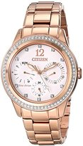 Citizen Eco-Drive Women's FD2013-50A Silhouette Crystal Analog Display Gold Watch