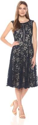 Julian Taylor Women's Lace Pleated Dress
