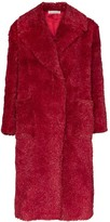 Vika Gazinskaya faux fur long coat