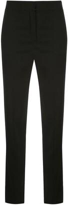 Oscar de la Renta High-Rise Slim-Fit Trousers