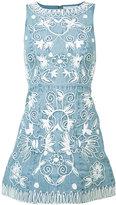 Alice + Olivia Alice+Olivia - embroidered denim dress - women - Cotton - 6