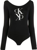 Calvin Klein Jeans mirrored monogram-print bodysuit