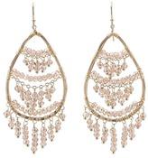 Nunu Gold Champagne Chandelier Earrings (Gold/Champagne) - Jewelry