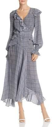 Preen Line Maieka Contrast-Back Gingham Dress