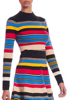Tracy Reese Cropped Mockneck Top