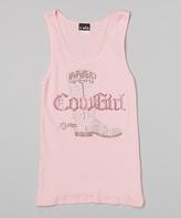 A Wish Pink Rhinestone 'Cowgirl' Tank - Toddler & Girls
