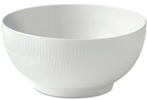 "Royal Copenhagen White Fluted Large 9.5"" Serving Bowl"