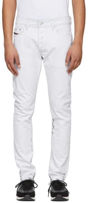 Diesel White Tepphar Jeans