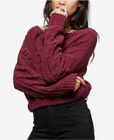 Free People Stick & Stones Cable-Knit Sweater
