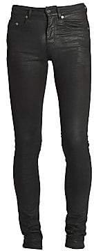 Saint Laurent Men's Skinny-Fit Waxed Jeans