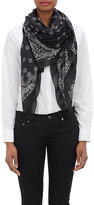 Saint Laurent Women's Bandana-Print Étamine Scarf-Black