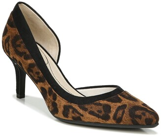 LifeStride Swann Leopard Print d'Orsay Pump - Wide Width Available