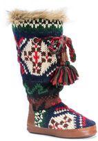 Muk Luks Women's Knit Tassel Boot Slippers