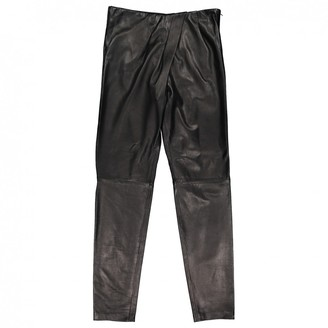 Amanda Wakeley Brown Leather Trousers