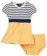Toobydoo Striped Top Dress (Baby & Toddler Girls)