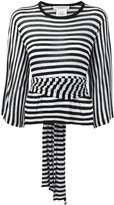 Philosophy Di Lorenzo Serafini - cashmere striped fitted top - women - Cashmere - 44
