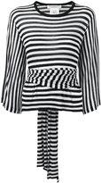 Philosophy Di Lorenzo Serafini - striped fitted top - women - Cashmere - 42