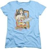 DC Womens: Wonder Woman - Invisible Jet Ladies T-Shirt Size XL