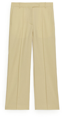 Arket Wool Blend Hopsack Trousers