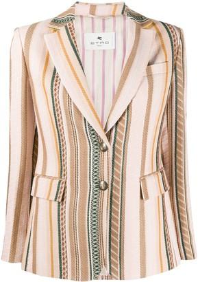 Etro Jacquard Striped Blazer