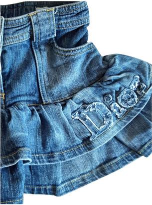 Christian Dior Blue Denim - Jeans Skirts