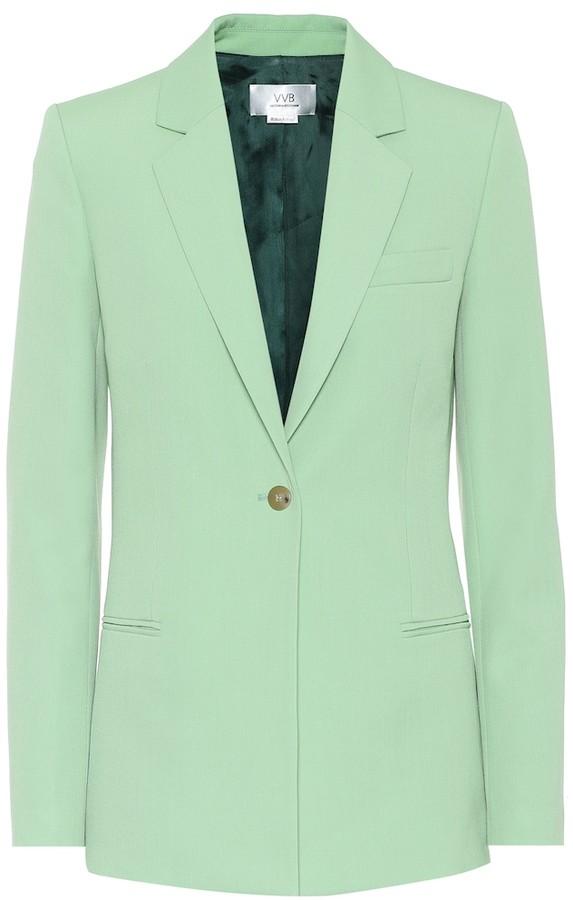 Victoria Victoria Beckham Wool-blend single-breasted blazer