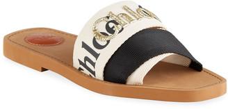 Chloé Woody Logo Flat Slide Sandals