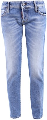 DSQUARED2 Mid Rise Cropped Jeans
