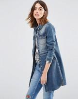 Warehouse Longline Denim Jacket