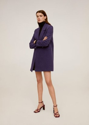 MANGO Lapelled straight-cut coat lilac - S - Women